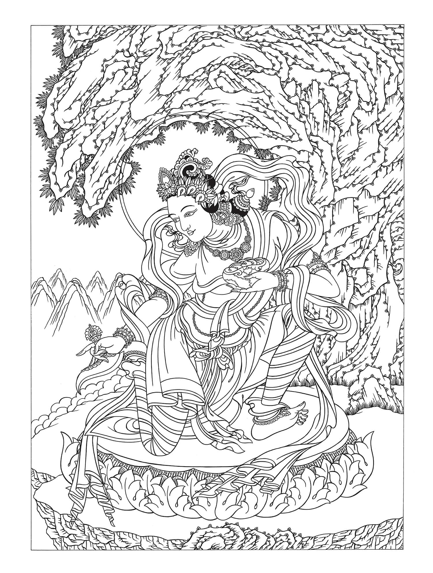 Color Yeshe Tsogyal