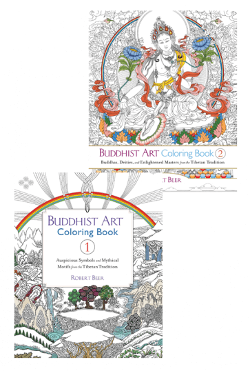 Buddhist Art Coloring Books