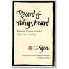 Record of Things Heard
