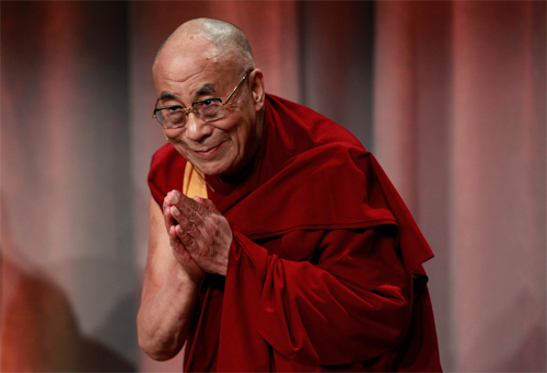 The Dalai Lama in Boston, photo credit: Steven Senne / AP
