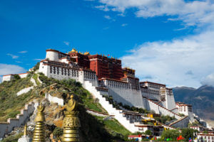 The Potala Palace in Lhasa, Tibet Autonomous Region, China was the residence of the Dalai Lama