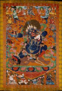 Tibetan Buddhism, Yamantaka, Destroyer of the God of Death. Tibet, Distemper on cloth, 72 3/8 x 46 5/8 in. (183.8 x 118.4 cm) violent aspect of the Bodhisattva Manjushri, Metropolitan Museum of Art