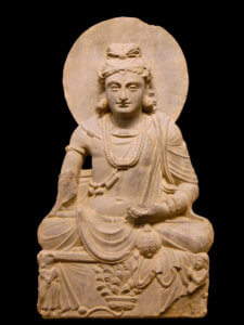 Buddhist tradition, Maitreya is a bodhisattva who will appear on Earth in the future, achieve complete enlightenment, and teach the pure dharma