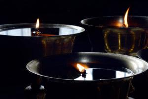 Tibetan altars oil lamp