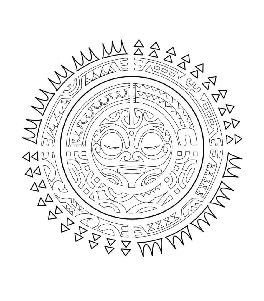 The Sun (Polynesian Tattoos)