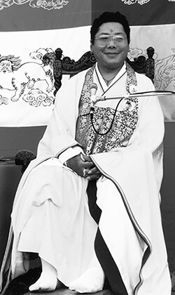 Trungpa in Japanese Robe