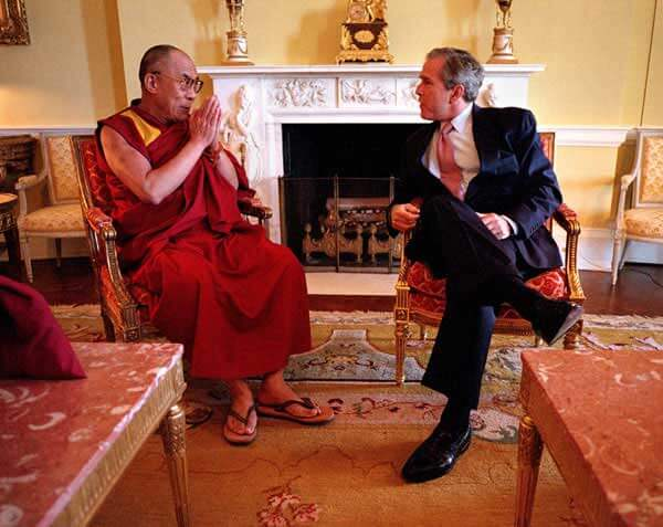 Busha and the Dalai Lama